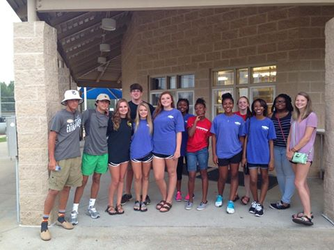 2015 Alabaster Teen Council Attending Teen Movie Night, July 7