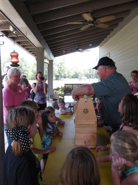 Grandparents Day - bee lessons - August 2014