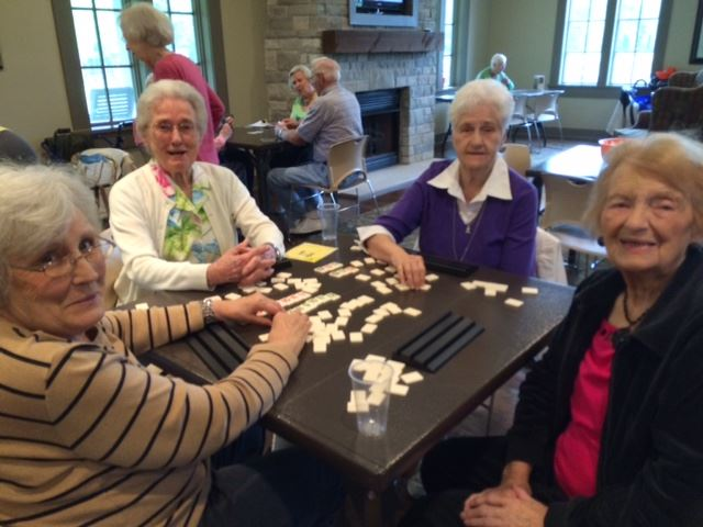 Seniors Playing Cards at the Center